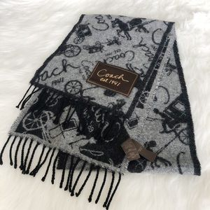 Coach Horse & Carriage Cashmere & Wool Blend Scarf
